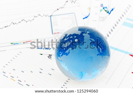 Crystal Global on Financial Chart - stock photo