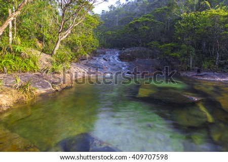 Crystal Green Lake in The Jungle - stock photo