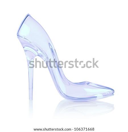crystal high heel - stock photo