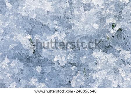 Crystal ice snow - stock photo