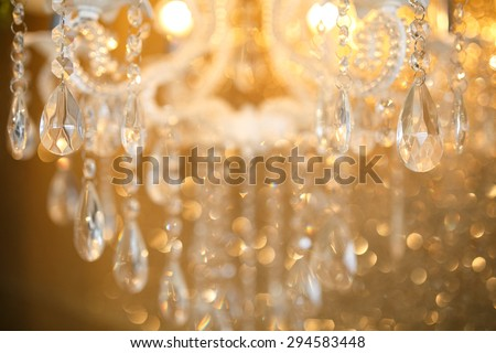 crystal lamp details - stock photo