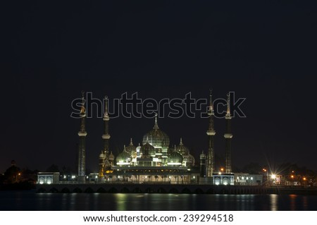 crystal mosque  terengganu - stock photo