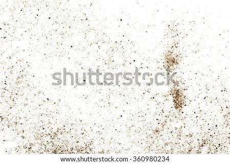 crystal sand scattered on white