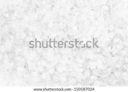 Crystal Sea Salt may use as background, closeup - stock photo