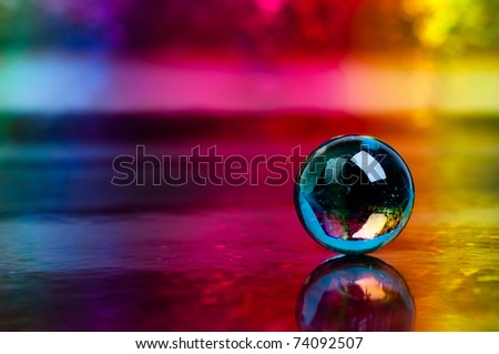 crystal sphere - stock photo