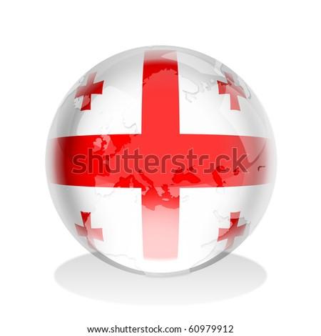 Crystal sphere georgian flag world map stock illustration 60979912 crystal sphere of georgian flag with world map gumiabroncs Choice Image