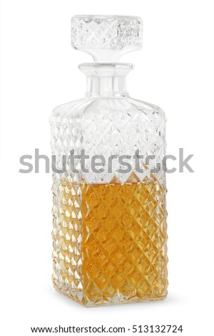 crystal whisky decanter isolated on a white background - Whisky Decanter