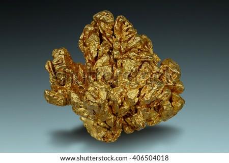 Crystalline gold from Venezuela.  - stock photo