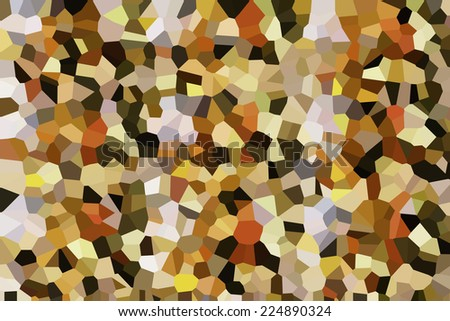 Crystallized abstract multicolored background with stained-glass effect - stock photo