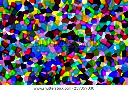 Crystallized multicolored abstract of overlapping polygons with effect of stained glass