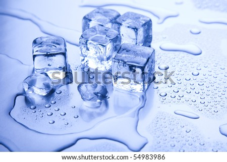 Crystals ice cubes - stock photo