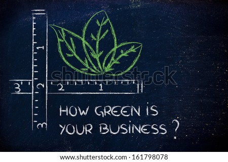 CSR and environment friendly companies, measure how green your business could be - stock photo
