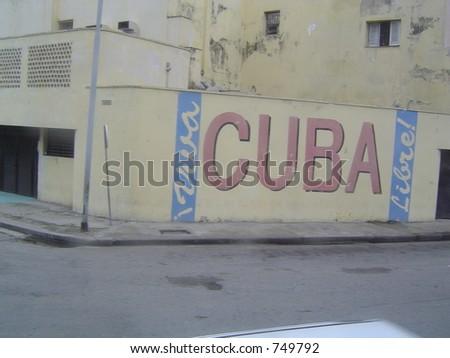 Cuba Advert - stock photo