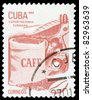 CUBA - CIRCA 1982: A stamp printed in Cuba honored Traditional Cuban exports shows coffee, circa 1982 - stock photo