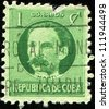 CUBA - CIRCA 1917: A stamp printed in Cuba shows Jose Marti, circa 1917 - stock photo