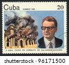 CUBA - CIRCA 1983: A stamp printed in CUBA  shows Salvador Allende, circa 1983 - stock photo