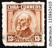 CUBA - CIRCA 1964: a stamp printed in the Cuba shows Carlos Juan Finlay, Physician, Scientist, circa 1964 - stock photo
