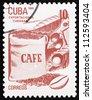 CUBA - CIRCA 1982: a stamp printed in the Cuba shows Coffee, Cuban Export, circa 1982 - stock photo