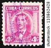 CUBA - CIRCA 1956: a stamp printed in the Cuba shows Don Miguel de Aldama, Activist for Cuban Independence, circa 1956 - stock photo