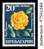CUBA - CIRCA 1984: The postal stamp printed in CUBA shows a rose, series flowers, circa 1984 - stock photo