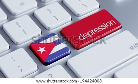 Cuba High Resolution Depression Concept - stock photo