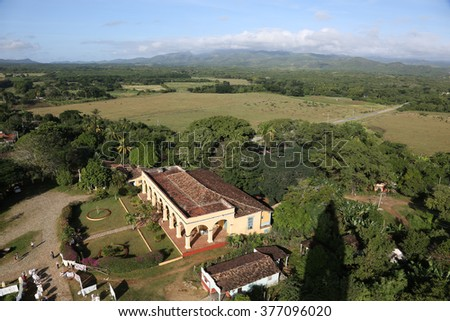 Cuba, Manacas, Lookout form the Tower - stock photo