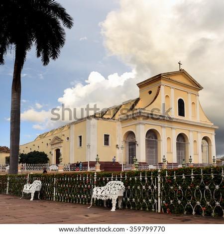 Cuba, Trinidad - 7. December 2015 - Holy Trinity Church located at Plaza Mayor - stock photo