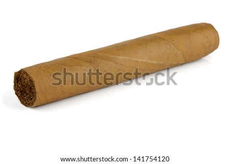 Cuban cigar. Isolated on white background