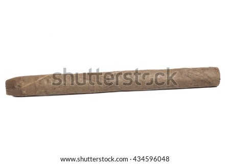 Cuban cigar isolated on white background - stock photo