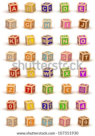 Cube Alphabet - stock photo