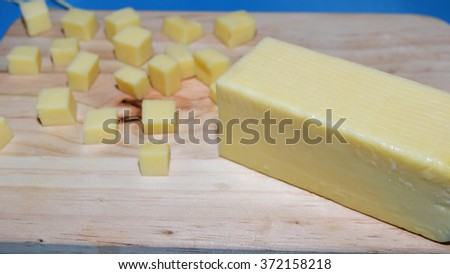 cube cheese snack - stock photo