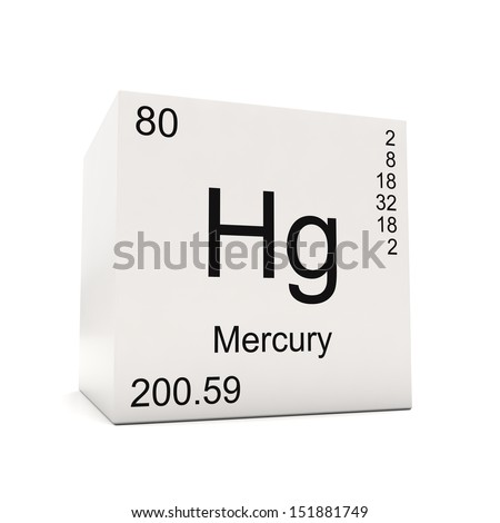 Cube mercury element periodic table isolated stock illustration cube of mercury element of the periodic table isolated on white background urtaz Images