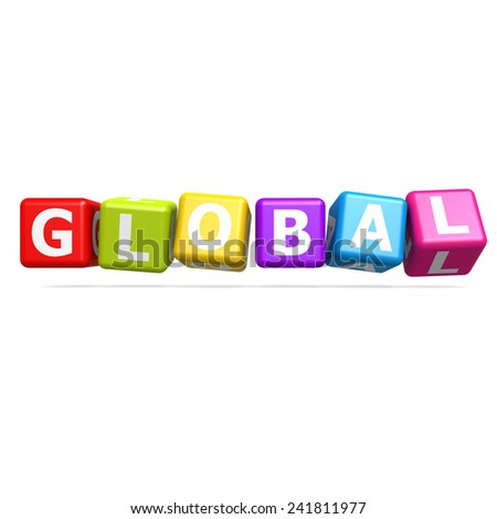 Cube puzzle global image with hi-res rendered artwork that could be used for any graphic design.