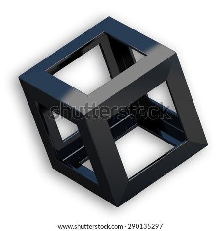 Cube with Black Color