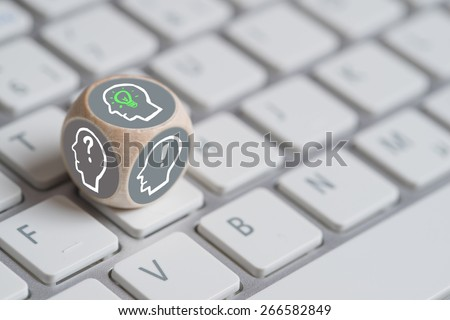 Cube Different Person Icons Each Showing Stock Photo Royalty Free