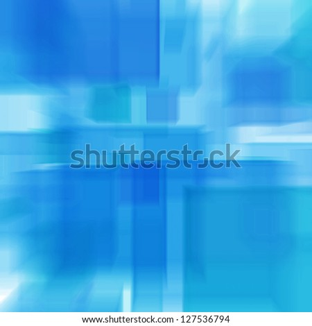 Cubes, abstract radial blur - stock photo