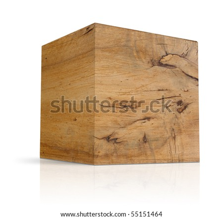 cubes in different types of wood