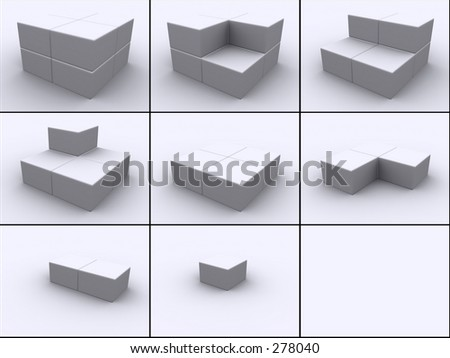 Cubes in steps