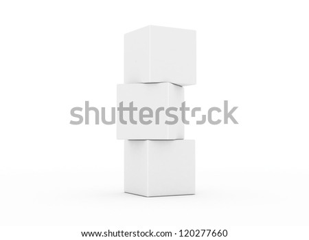 Cubes stacked building concept 3d - stock photo