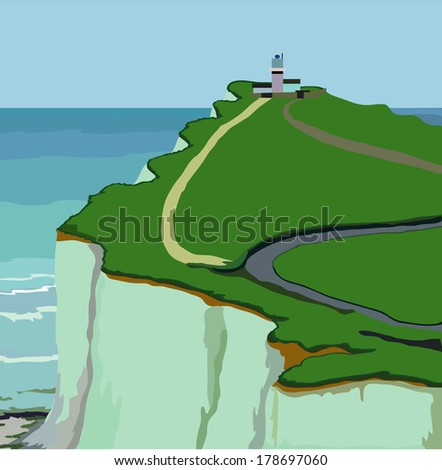 Cuckmere Haven cliff in England