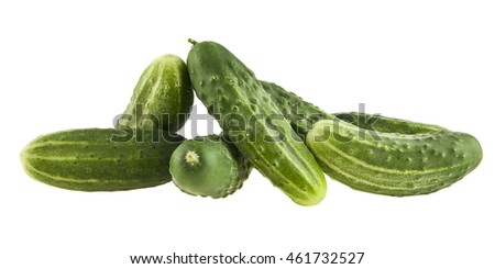 cucumber isolated on a white background