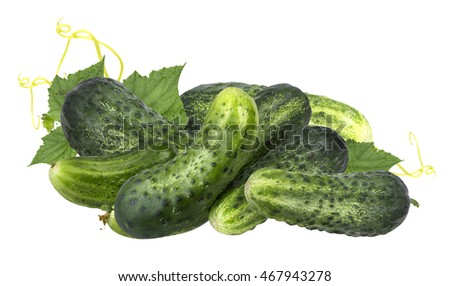 Cucumber isolated on white background