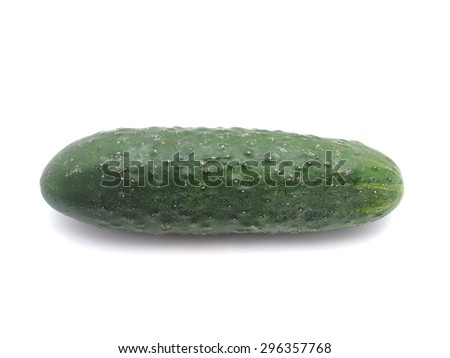 cucumber on a white background
