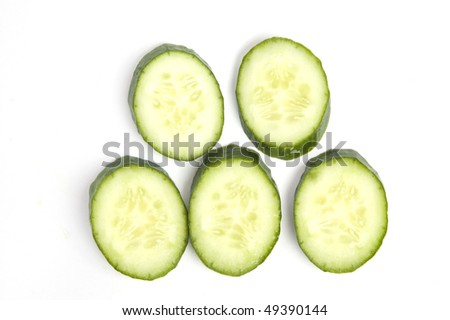 Cucumber on the white