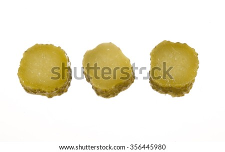 cucumber slices - stock photo
