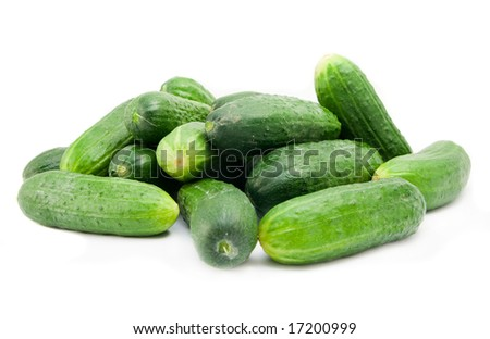 cucumbers isolated