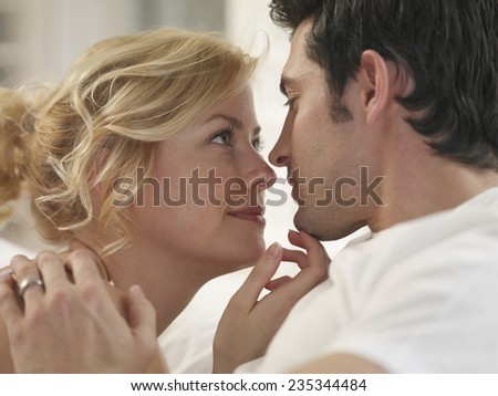 Cuddling Lovers - stock photo