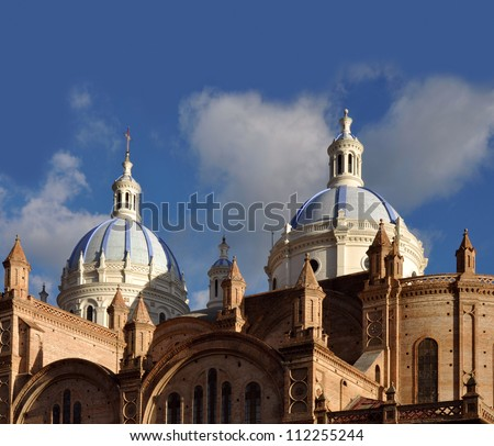 Cuenca - Cathedral Of The Immaculate Conception, Ecuador - stock photo