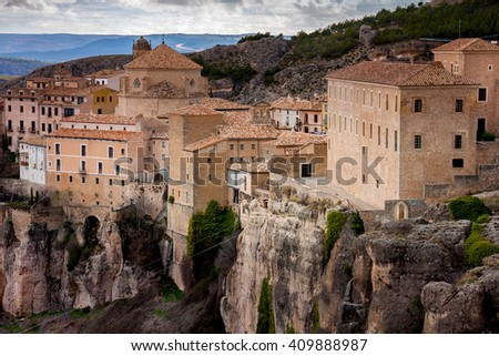 Cuenca, Spain, Hanging Houses, medieval town situated in the middle of two ravines, UNESCO World Heritage Site