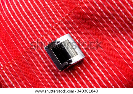 Cufflinks shirt sleeve. Photo for microstock - stock photo